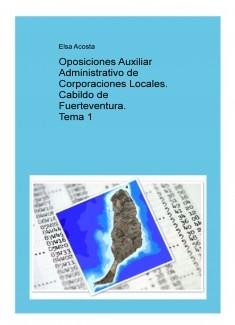 Oposiciones Auxiliar Administrativo de Corporaciones Locales. Tema 1
