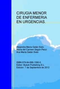 CIRUGIA MENOR DE ENFERMERIA   EN URGENCIAS.