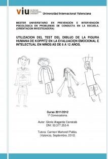 UTILIZACION DEL TEST DEL DIBUJO DE LA FIGURA HUMANA DE KOPPITZ EN LA EVALUACION EMOCIONAL E INTELECTUAL EN NIÑOS/AS DE 6 A 12 AÑOS