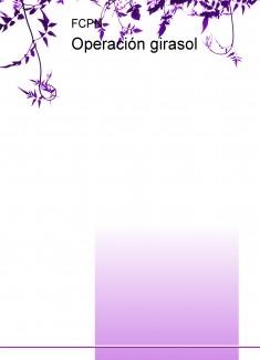 Operación girasol