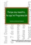 Porque soy maestra... he aquí mi programación. Andalucía