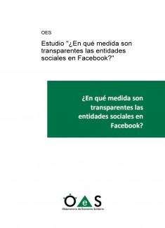 """Estudio """"¿En qué medida son transparentes las entidades sociales en Facebook?"""""""