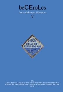 beCEroLes. Lletres de llengua i literatura, V (2012)