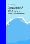 Pensiones públicas 2013 según Real Decreto Ley 29/2012