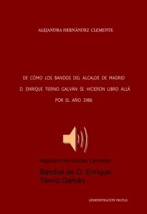 Bandos de D. Enrique Tierno Galván