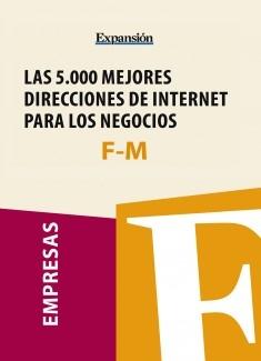 Sectores F-M - Las 5.000 mejores direcciones de internet para los negocios.