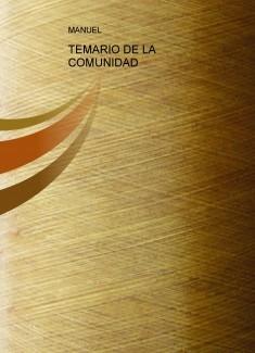 TEMARIO DE LA COMUNIDAD