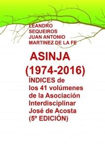 ÍNDICES de los volúmenes de la Asociación Interdisciplinar ASINJA