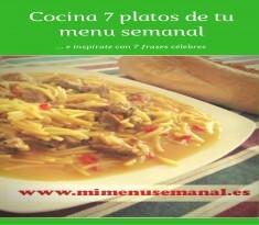 Cocina 7 platos de tu menú semanal