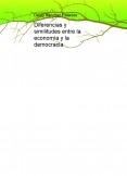Diferencias y similitudes entre la economía y la democracia.