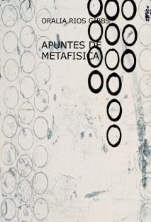 APUNTES DE METAFISICA
