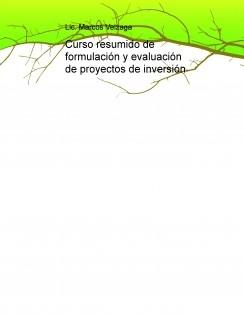 Curso resumido de formulación y evaluación de proyectos de inversión