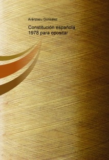 Constitución española 1978 para opositar