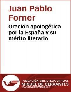 Oración apologética por la España y su mérito literario