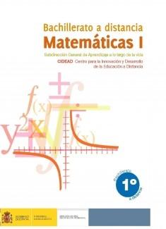Matemáticas I. 1º bachillerato. Bachillerato a distancia