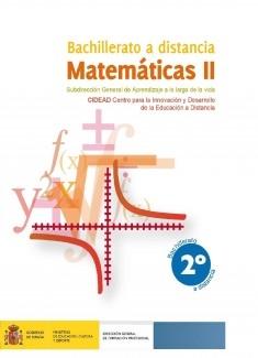 Matemáticas II. 2º bachillerato. Bachillerato a distancia