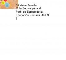 Ruta Segura para el Perfil de Egreso de la Educación Primaria. APES 1