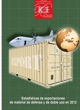 Libro Boletín Económico. Información Comercial Española (ICE). Núm. 3043. Estadísticas de exportaciones de material de defensa y de doble uso en 2012, autor Ministerio de Economía y Empresa