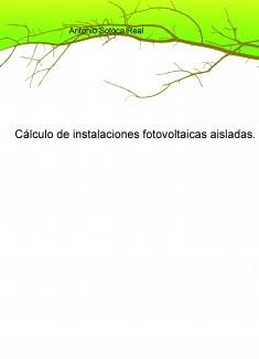 Cálculo de instalaciones fotovoltaicas aisladas