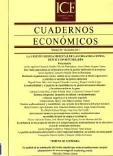 Libro Cuadernos Económicos. Información Comercial Española. (ICE). Núm. 86 La gestión medioambiental de las organizaciones: retos y oportunidades, autor Ministerio de Economía y Empresa