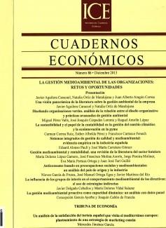 Cuadernos Económicos. Información Comercial Española. (ICE). Núm. 86 La gestión medioambiental de las organizaciones: retos y oportunidades