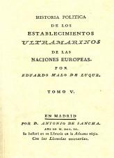 Libro Hª Política de los Establecimientos Ultramarinos de las Naciones Europeas, autor Ministerio de Economía y Empresa