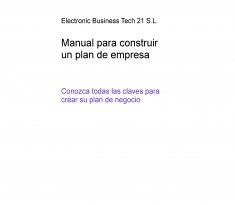 Manual para construir un plan de empresa