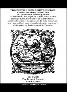 Pronosticacion o revolucion para 1565 de Nostradamus