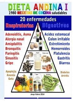DIETA ANDINA, 1980 recetas de cocina saludables; 20 enfermedades (respiratorias y digestivas)