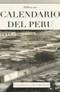 Calendario del Perú