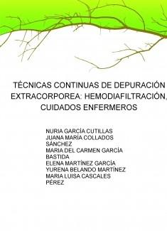 TÉCNICAS CONTINUAS DE DEPURACIÓN EXTRACORPOREA: HEMODIAFILTRACIÓN, CUIDADOS ENFERMEROS