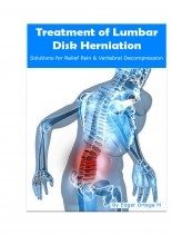 Libro Treatment of Lumbar Disk Herniation, autor Edgar Ortega M.