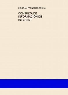 CONSULTA DE INFORMACIÓN DE INTERNET