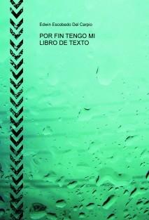 POR FIN TENGO MI LIBRO DE TEXTO
