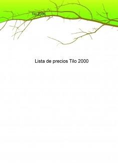 Lista de precios Tilo 2000