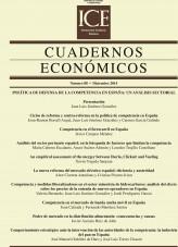 Libro Cuadernos Económicos. Información Comercial Española (ICE). Núm.88 Política de defensa de la competencia en España: un análisis sectorial, autor Ministerio de Economía y Empresa