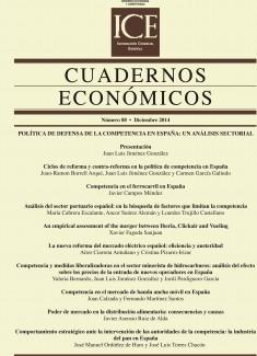 Cuadernos Económicos. Información Comercial Española (ICE). Núm.88              Política de defensa de la competencia en España: un análisis sectorial