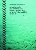 revista literaria la paja-reria de javier y calíope y la nueva lef-a de javier nº 15 enero 2015 tamaño 26