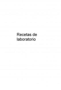 Recetas de laboratorio