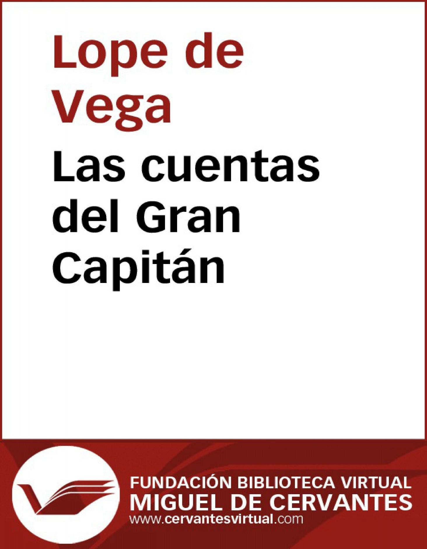 34c98a29fc80 Las cuentas del Gran Capitán