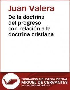 De la doctrina del progreso con relación a la doctrina cristiana