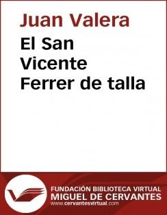 El San Vicente Ferrer de talla