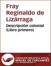 Descripción colonial (libro primero)