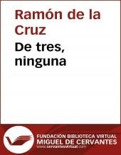 Libro De tres, ninguna, autor Biblioteca Miguel de Cervantes