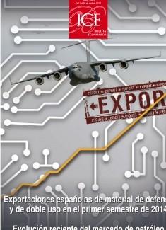 Boletín Económico. Información Comercial Española (ICE). Núm. 3062 Exportaciones españolas de material de defensa y de doble uso en el primer semestre de 2014