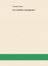 Libro On a Gödel's misjudgment, autor Giuseppe Raguní