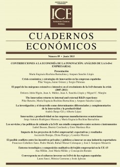 Cuadernos Económicos. Información Comercial Española (ICE). Núm 89                        Contribuciones a la Economía de la Innovación: análisis de la I+D+i empresarial