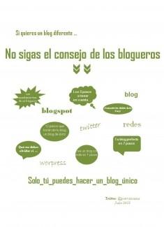 No sigas el consejo de los blogueros