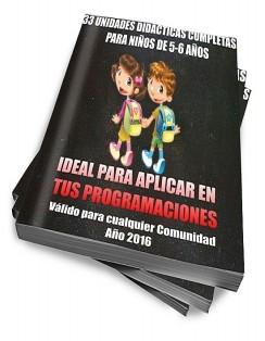 33 UNIDADES DIDÁCTICAS COMPLETAS PARA NIÑOS DE 5-6 AÑOS