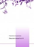 Temas del 6 al 10 oposición de Infantil